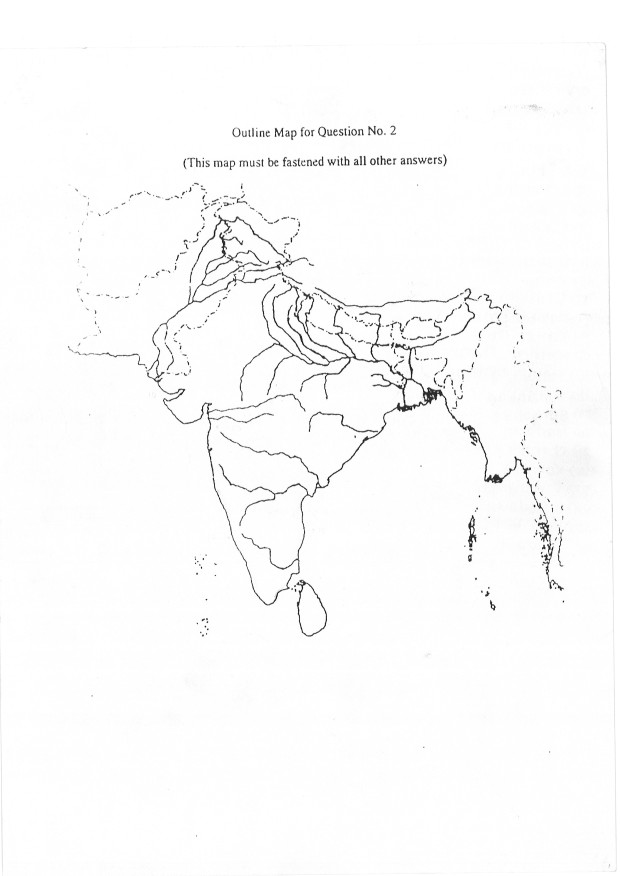 Geography: Sample India Map Outline