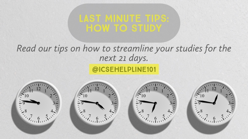 Last Minute Tips: How to Study by Helpline for ICSE Students (Class 10) | @icsehelpline101