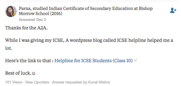 """Parna's answer to """"Which is the best site for notes of ICSE board exam?"""" on Quora 