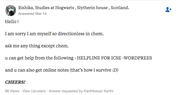 """Rishika's answer to """"Can anyone help me with the ICSE chemistry?"""" on Quora 