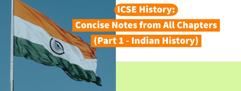 ICSE History: Concise Notes from All Chapters (Part 1 - Indian History) by Khalid | Helpline for ICSE Students (Class 10) @icsehelpline101